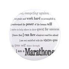 "I Am a Marathoner 3.5"" Button"