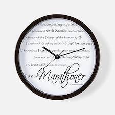 I Am a Marathoner - Script Wall Clock