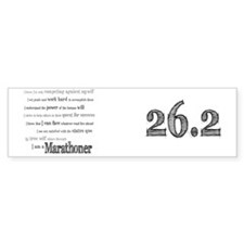 I Am a Marathoner mug Bumper Sticker