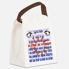 double Mugs God-I Love This Place Canvas Lunch Bag