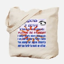 double Mugs God-I Love This Place Tote Bag