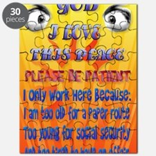 LargePoster2 God-I Love This Place Puzzle