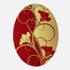 rgflowers3g Oval Ornament