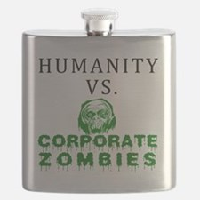 Humanity vs. Corporate Zombies - White Flask
