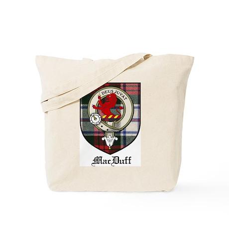 MacDuff Clan Crest Tartan Tote Bag