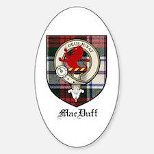 MacDuff Clan Crest Tartan Oval Decal