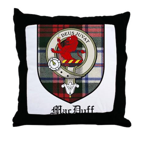 MacDuff Clan Crest Tartan Throw Pillow