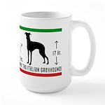 I Know a Little Italian - Greyhound Large Mug