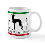 I Know a Little Italian -It. Greyhound Mug
