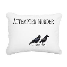 Attempted Murder Rectangular Canvas Pillow