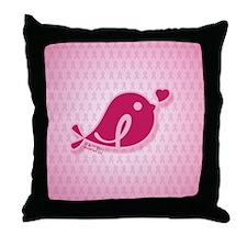 ipadsleeve_BCABirdie_BG_DrkPnk1 Throw Pillow