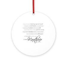 I Am a Marathoner - Script for ligh Round Ornament