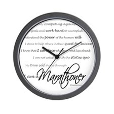 I Am a Marathoner - Script for light Wall Clock