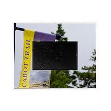 Baddeck. Cabot Trail sign Breton Isl Picture Frame