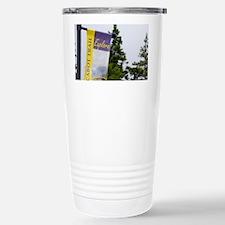 Baddeck. Cabot Trail sign Breto Travel Mug