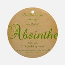 AbsintheLabeliPad Case Round Ornament