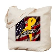 support troops button updates Tote Bag