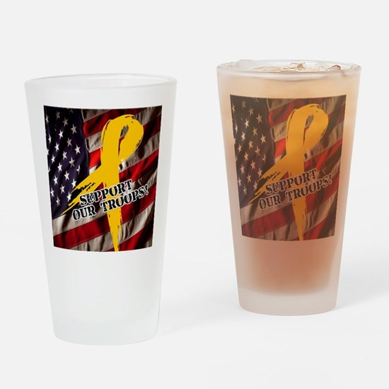 support troops button updates Drinking Glass