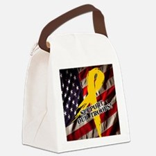support troops button updates Canvas Lunch Bag
