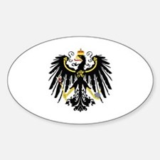 Funny German flags Sticker (Oval)