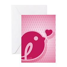 ipadsleeve_BCABirdie_BG_DrkPnk2 Greeting Card