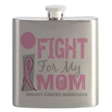 - I Fight For My Mom Breast Cancer D Flask