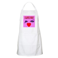 I Love You Eyes & Heart BBQ Apron