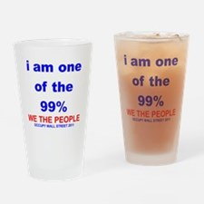 I-am-one-of-the-99-percent-WHITE Drinking Glass