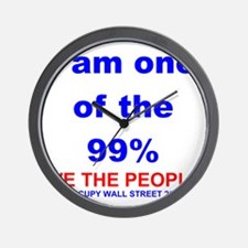 I-am-one-of-the-99-percent-WHITE Wall Clock