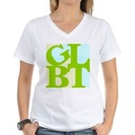 GLBT Tropo Pop Women's V-Neck T-Shirt
