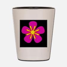 Pink Black Floral Spirited Designer Shot Glass