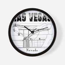 LasVegas_10x10_HooverDam_Black Wall Clock