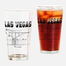 LasVegas_10x10_HooverDam_Black Drinking Glass