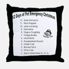 Pet Emergency Christmas Design Throw Pillow