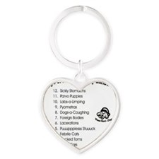 Pet Emergency Christmas Design Heart Keychain