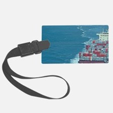 Container ship at sea. Luggage Tag