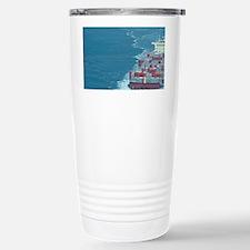 Container ship at sea. Travel Mug