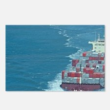 Container ship at sea. Postcards (Package of 8)