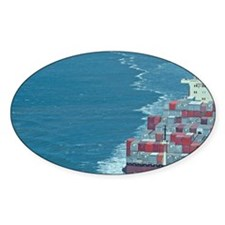 Container ship at sea. Decal