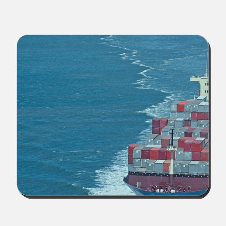 Container ship at sea. Mousepad