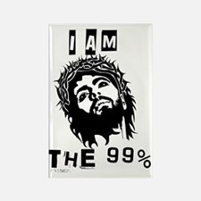 Jesus Is The 99% Rectangle Magnet