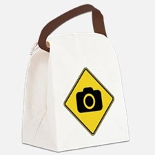 warningSignPhotographer Canvas Lunch Bag