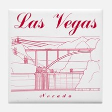 LasVegas_10x10_HooverDam_Red Tile Coaster