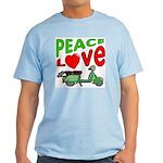Peace Love Motor Scooter Light T-Shirt