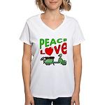 Peace Love Motor Scooter Women's V-Neck T-Shirt