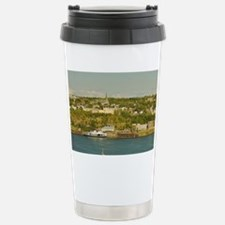 Old Quebec City. View of a barg Travel Mug