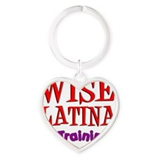 Wise Latina In Training Heart Keychain