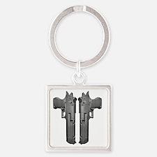 DesertEagle Square Keychain