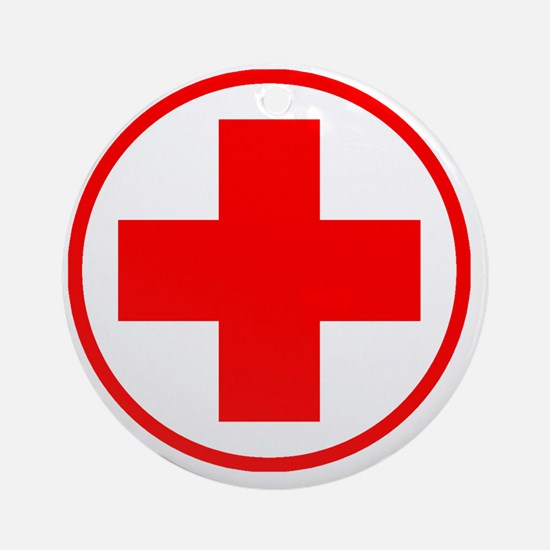 medic2 copy Round Ornament