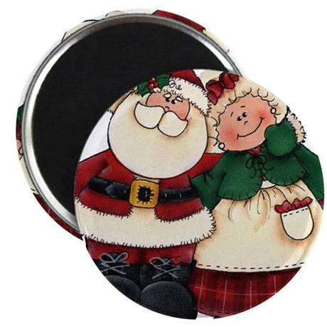 """Mr. & Mrs. Claus 2.25"""" Magnet (100 pack)"""